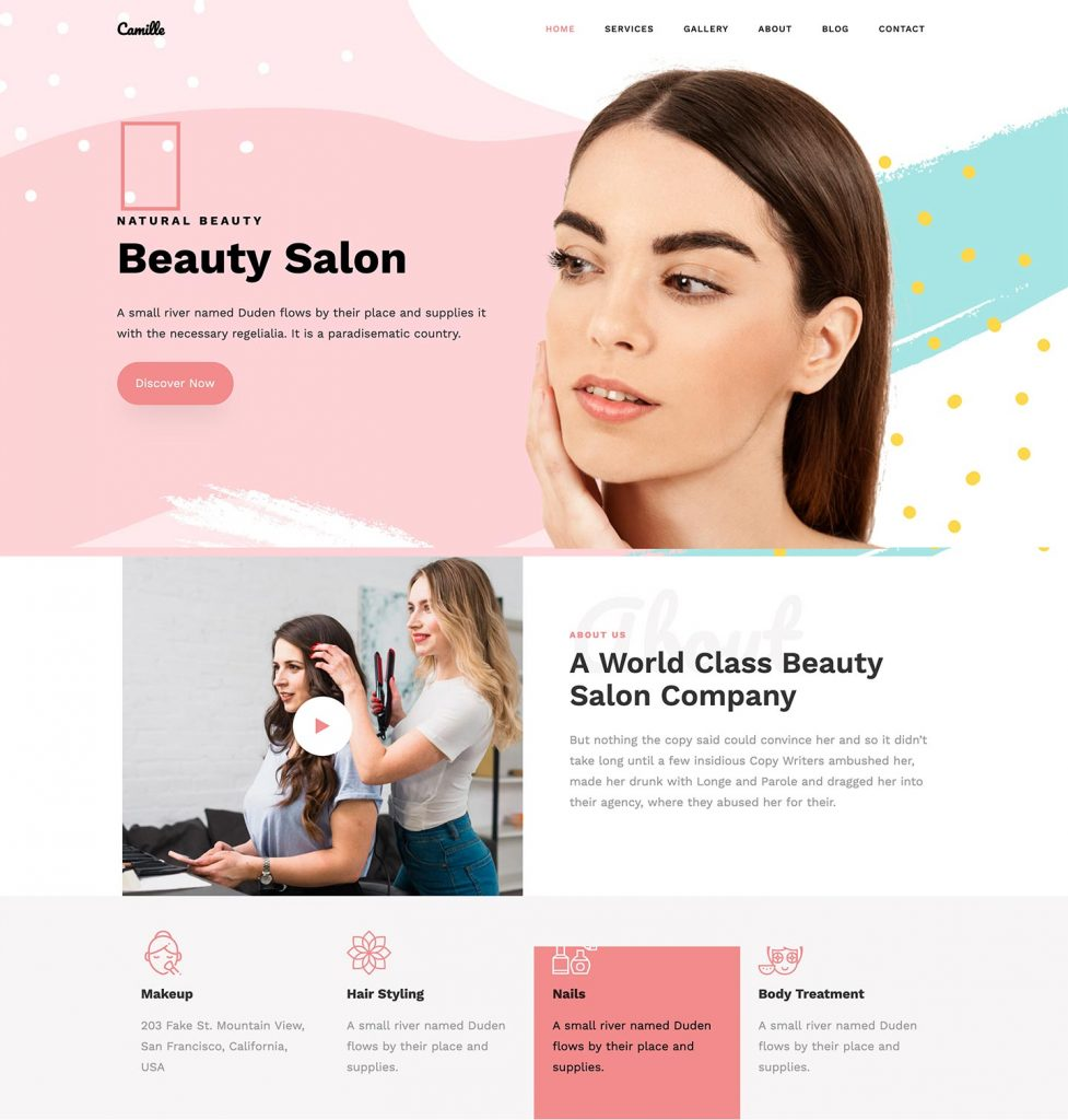Camille Bootstrap Template