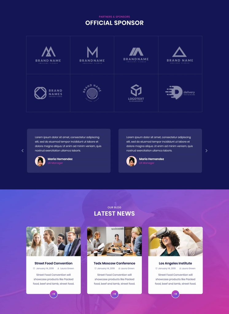 Confer Business Bootstrap Template