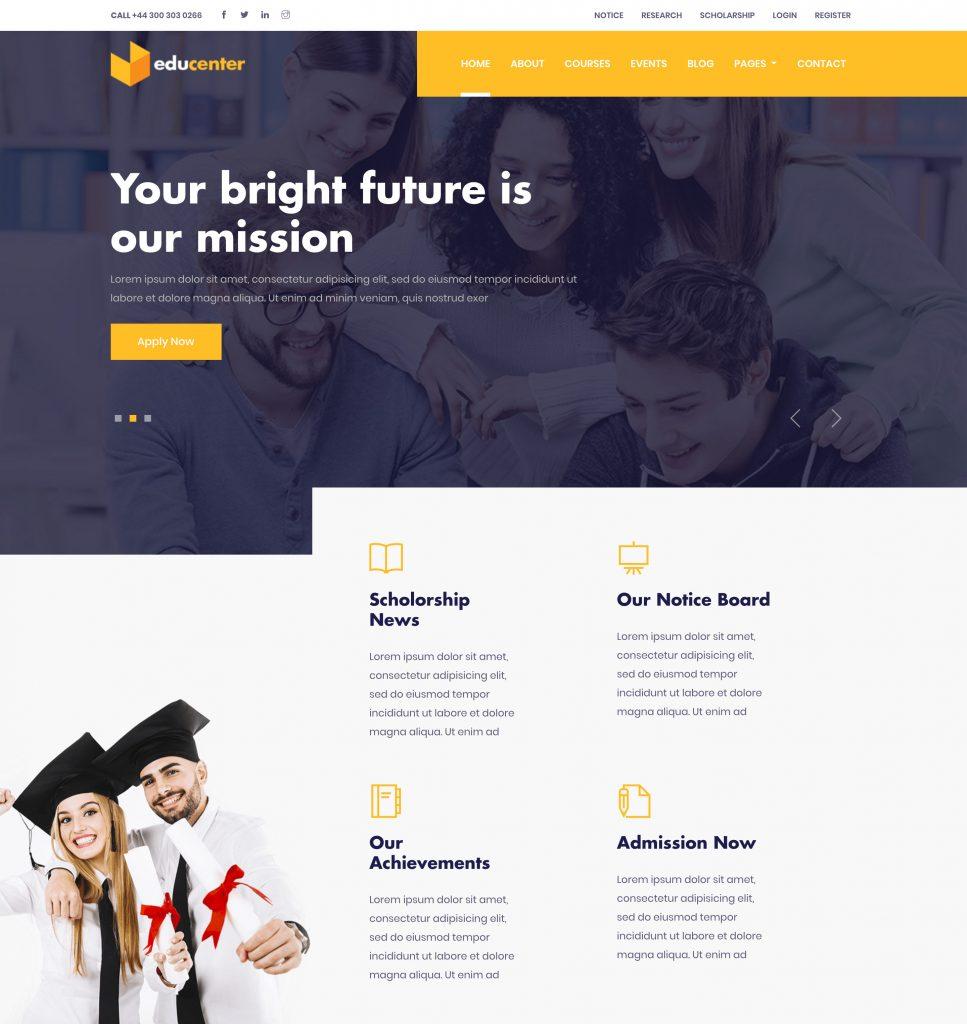 Educenter Education Template