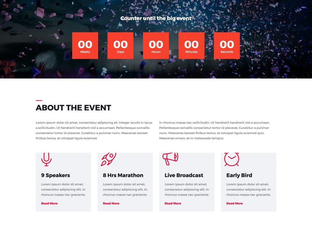 Evento Free Event Landing Page