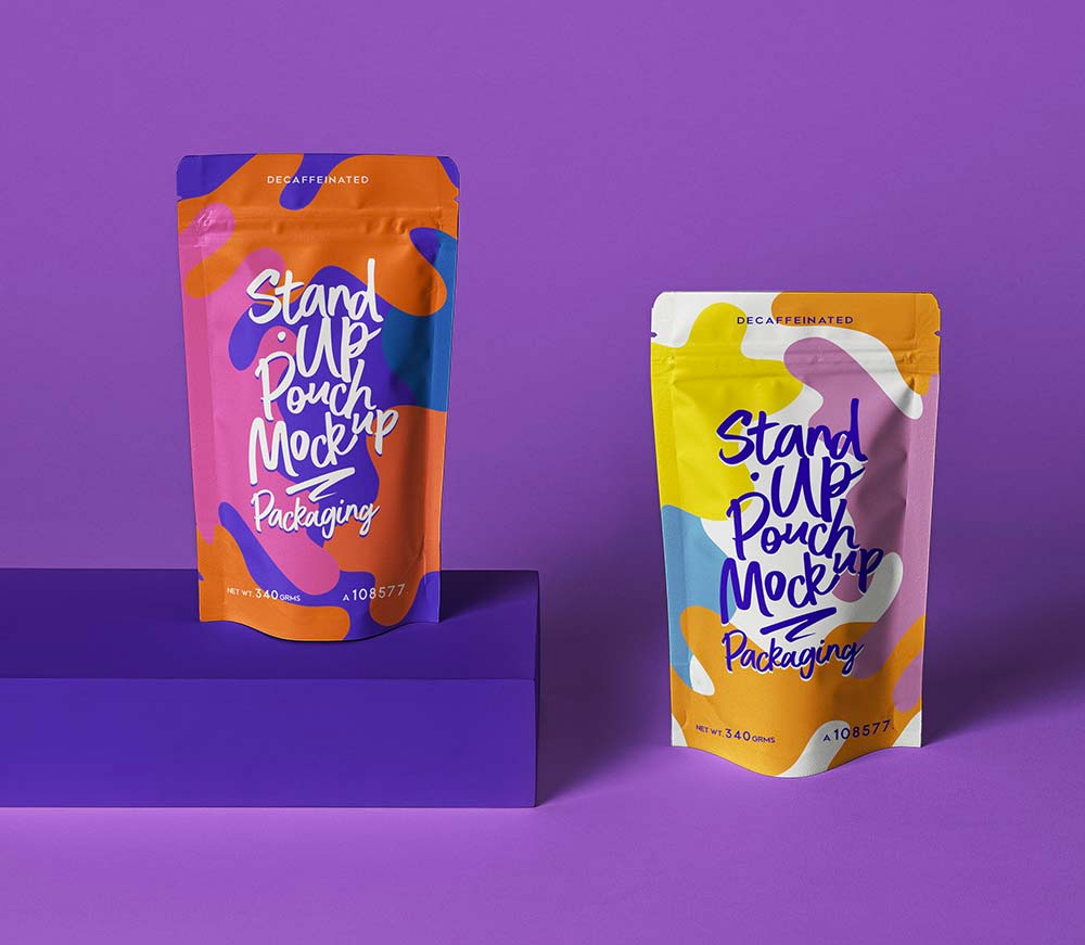 Stand Up Pouch Mockup Free