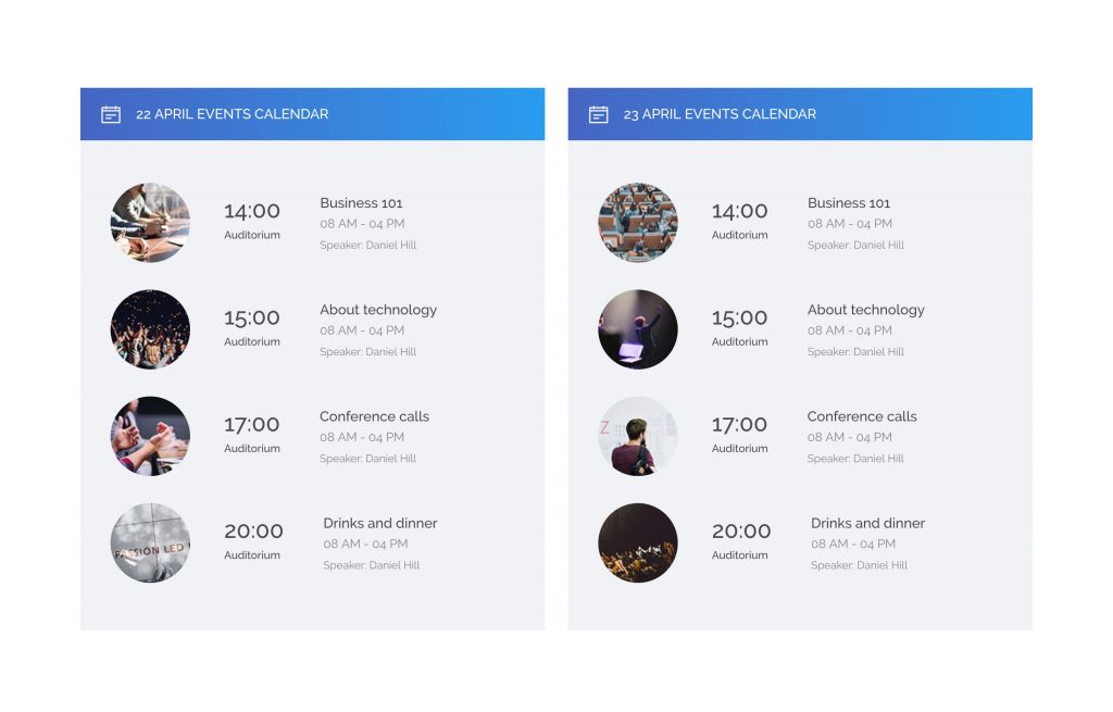 The Conference Bootstrap Free Template