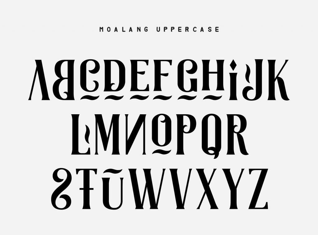 Moalang font - 4