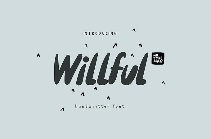 Willfull Handwritten Font