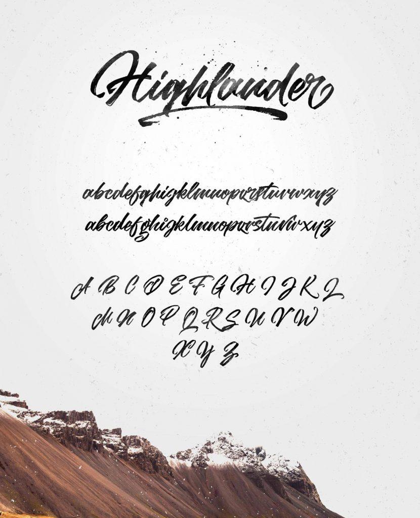 highlander fonts