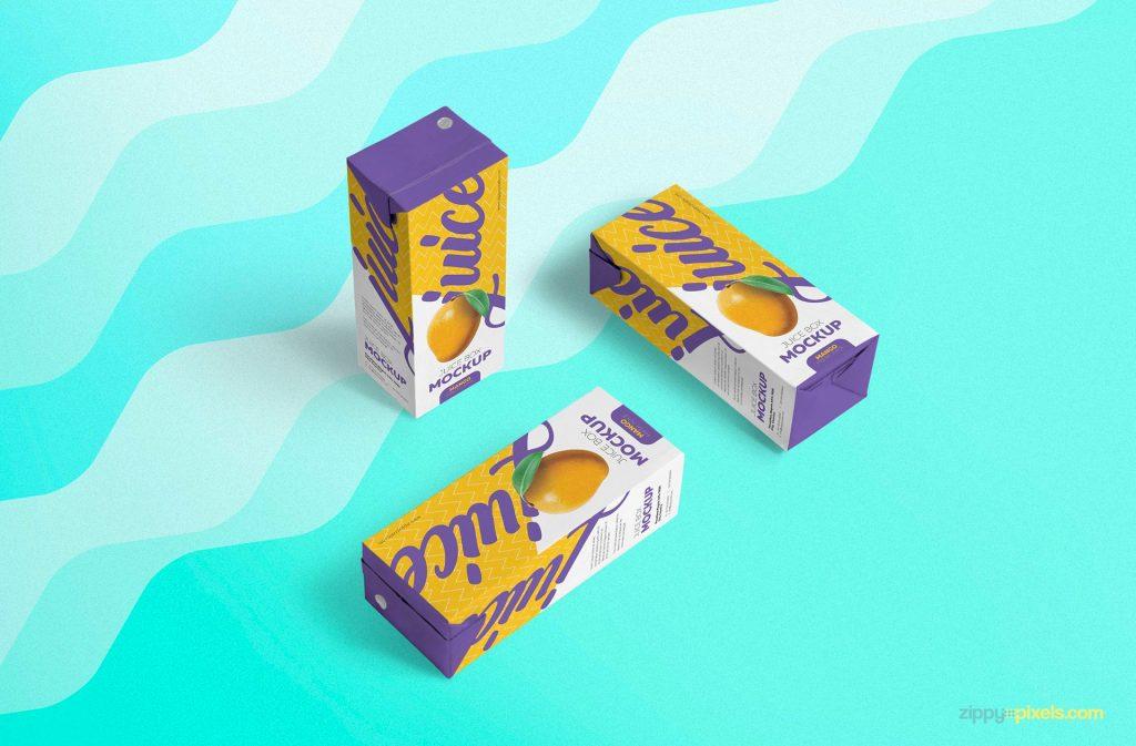Juice Box Free Mockup 1