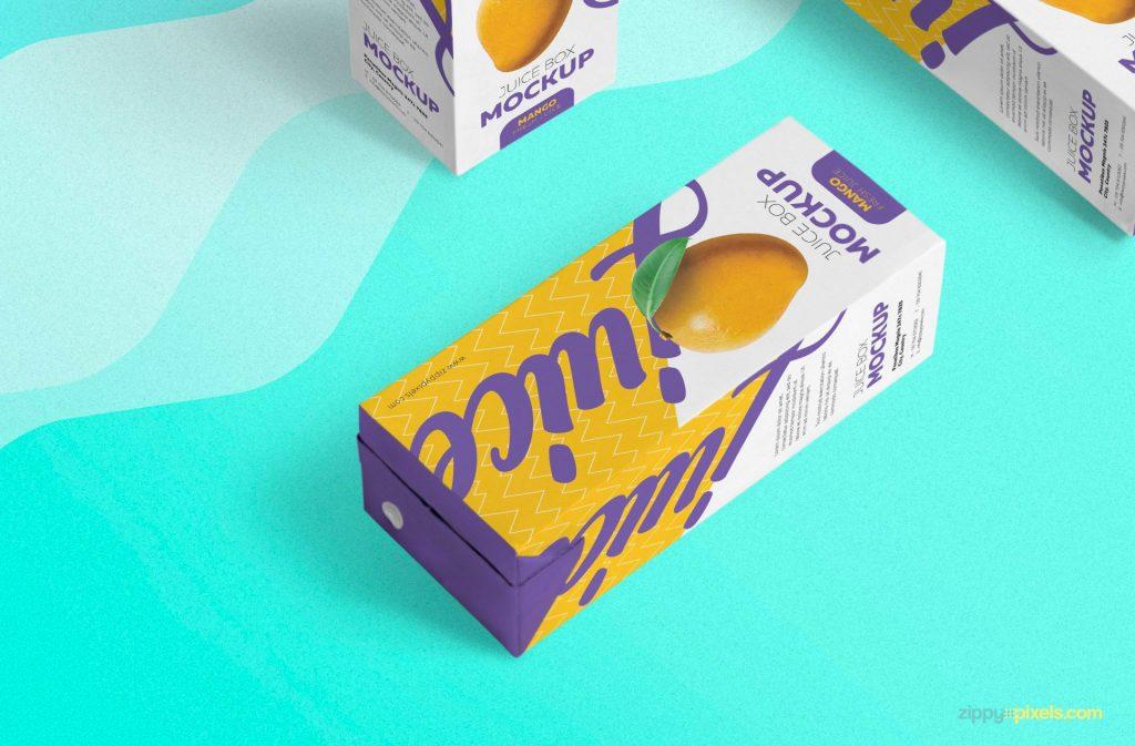 Juice Box Free Mockup 4