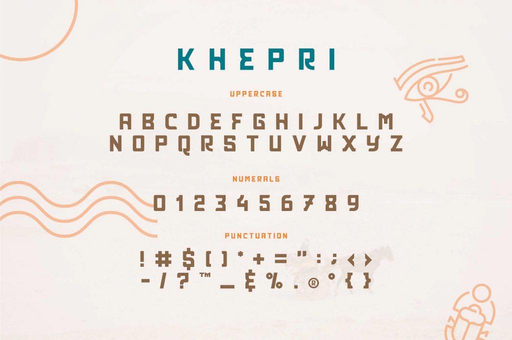 Khepri Egyptian Free Typeface