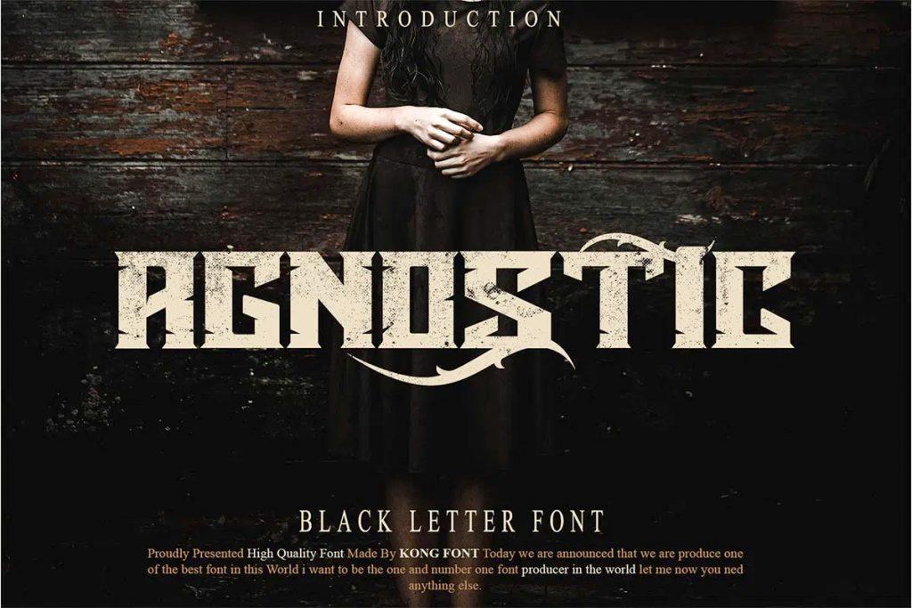 Agnostic Display Black Letter Font