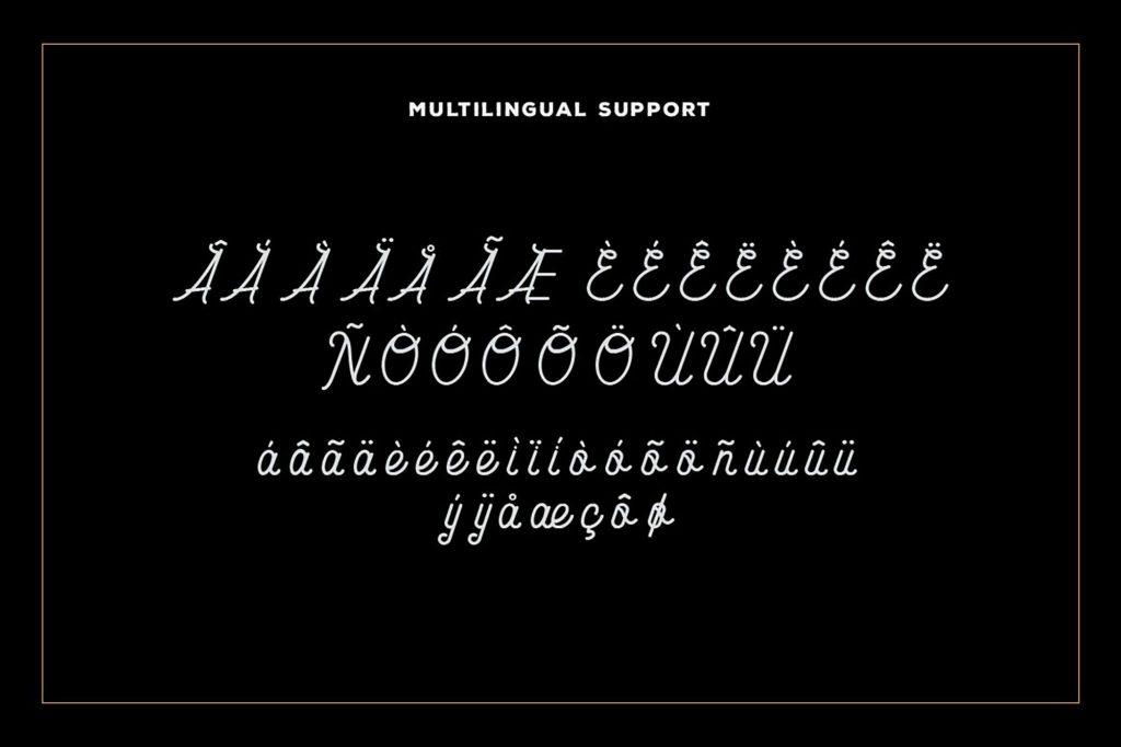 Vintage Carimba Monoline Script Font