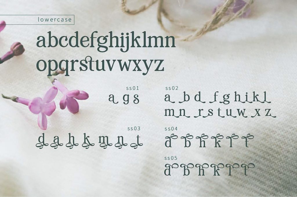 Renda Glamour Serif Font